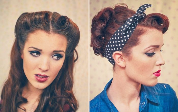 Retro Pin-up Style Hair Tutorials by The Freckled Fox!
