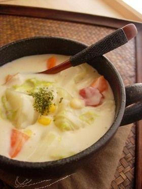 おしゃれな白菜シチューのレシピ みんな大好きチーズクリームシチュー♡
