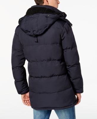 Superdry Men's Sd Expedition Quilted Parka with Removable Hood - Blue XXL