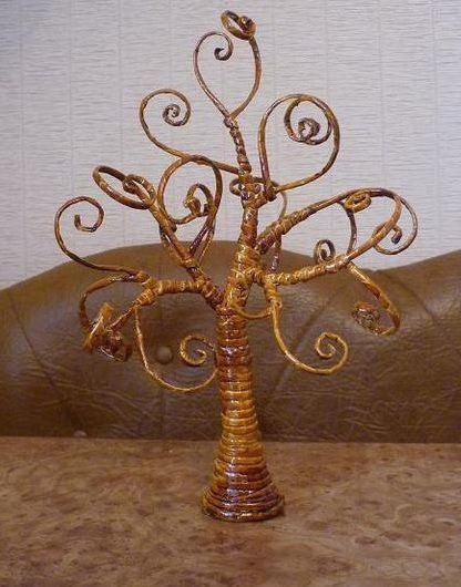 Дерево из газетных трубочек мастер класс - Master class