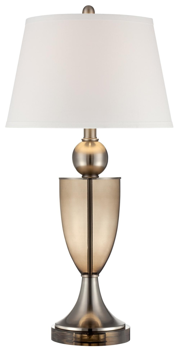 Threshold torchiere floor lamp textured bronze 65 - Modern Urn 32 1 4 High Chrome And Glass Table Lamp Lampsplus