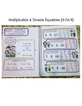 3rd Grade Interactive Math Notebook - Operations  Algebraic Thinking