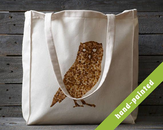Owl Bag/ Owl Tote Bag/ Owl Art/ Canvas Tote Bag/ Canvas Bag /