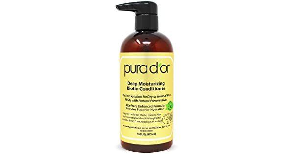 Pura D Or Biotin Deep Moisturizing Conditioner Thickens Softens Smooths Moisturizes F Deep Moisturizing Conditioner Moisturizing Conditioner Moisturizer