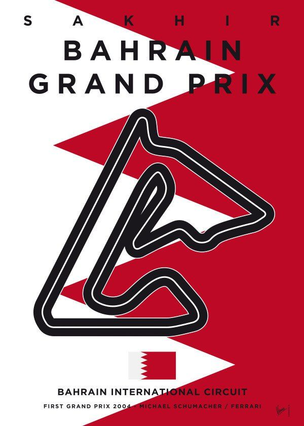 "Formula 1 Bahrain Grand Prix Racetrack #Displate artwork by artist ""Chungkong Art"". Part of a 22-piece set featuring minimalist designs based on popular F1 racetracks. £35 / $46 per poster (Regular size), £71 / $94 per poster (Large size) #F1 #F1GrandPrix #FormulaOne #Formula1 #GrandPrix #Australia #Bahrain #China #Azerbaijan #Spain #Monaco #Canada #France #Austria #UnitedKingdom #Germany #Hungary #Belgium #Italy #Singapore #Russia #Japan #UnitedStates #Mexico #Brazil #AbuDhabi #Malaysia"