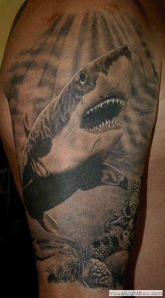 Want to get a Great White Shark tattoo