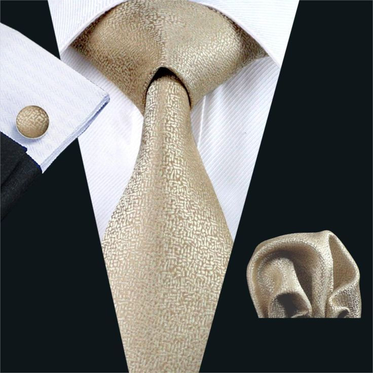 Slim tie - Woven Jacquard silk in solid khaki beige Notch y5aqEzUL