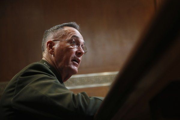 Dunford Taps Brakes on Trump's Call for Transgender Ban in Military:  Joint Chiefs Chairman Marine Gen. Joseph Dunford said Thursday that thousands of transgender troops in the ranks will continue serving indefinitely until the Pentagon gets formal notice of President Donald Trump's proposed ban and figures out a way to implement it.