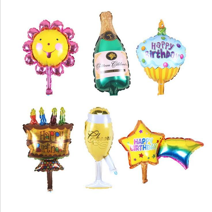 1pc 35x35cm new champagne cup beer Bottle balloons aluminium foil balloon helium ballons for birthday wedding balloons party