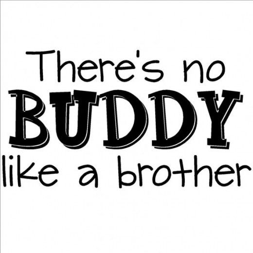 There's No Buddy Like a Brother Wall Graphic