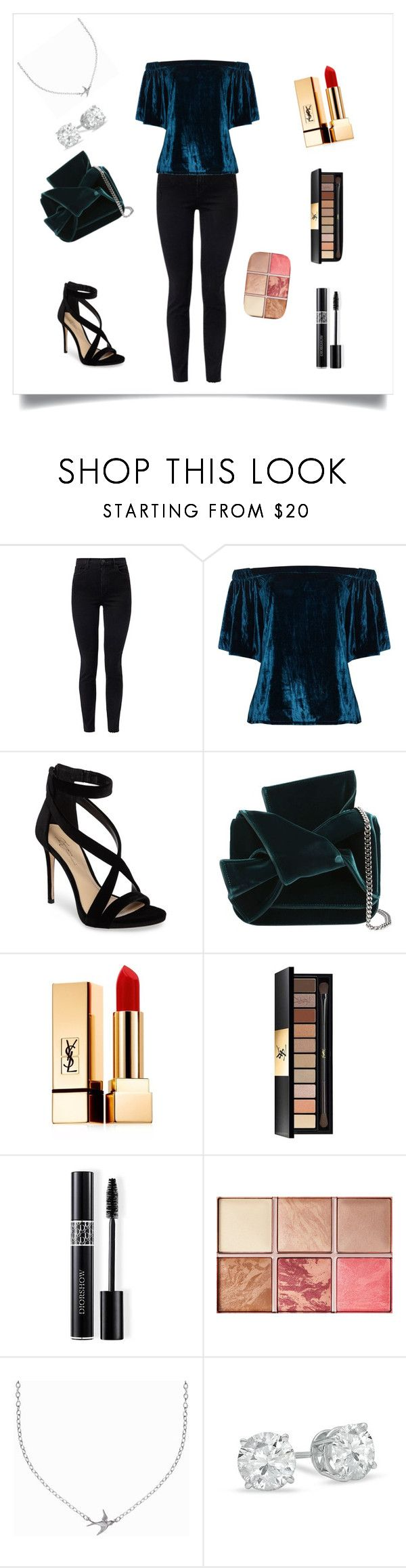 """Untitled #438"" by angel000 on Polyvore featuring J Brand, Jelena Bin Drai, Imagine by Vince Camuto, N°21, Yves Saint Laurent, Christian Dior, Hourglass Cosmetics and Minnie Grace"