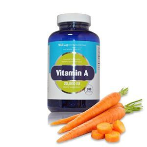 Well-Cap Sugar Free Vitamin A | 20,000 IU | 500 softgels | Easy to Swallow as Beta Carotene and Fish Liver Oil | Essential for a healthy immune system and eyes