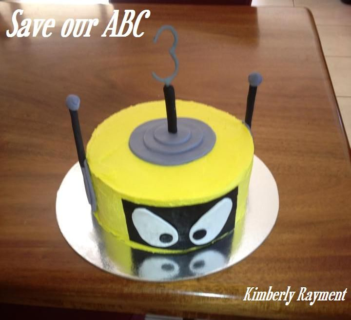 """Yo Gabba Gabba Cake by Kimberly In Australia we are losing funding to our independent television channel The ABC. I am starting a collection of photos from our local  Cake Decor in Cairns home baking mums and dads to support the facebook page (not run by me) """"Australians Baking Cakes for the ABC.  http://www.cakedecorcairns.com/2014/06/australians-baking-cakes-for-abc.html"""