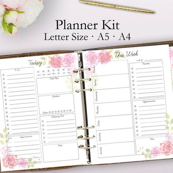 2021 Planner Printable Daily Planner Pages Weekly Planner Etsy In 2021 Daily Planner Pages Daily Planner Printable Daily Planner