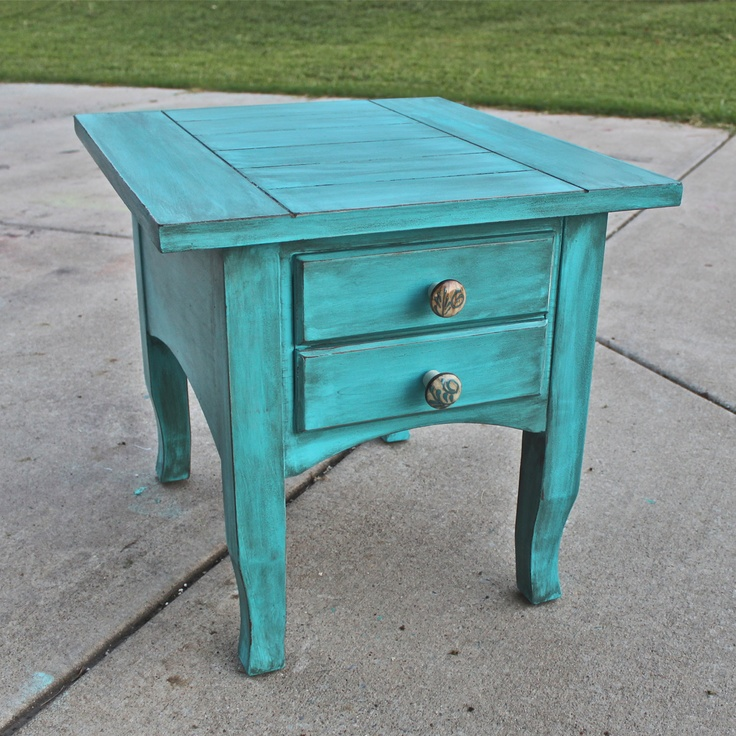 how to make a piece of furniture look distressed