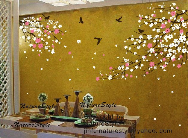 Nursery Wall Decal Wall Sticker Blossoms Tree decal Cherry Blossom ...