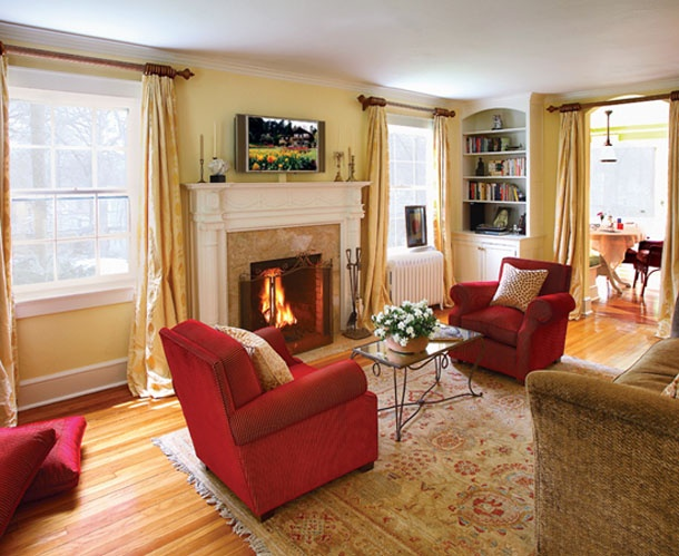 images  red  gold inspiration  living room  pinterest eclectic dining