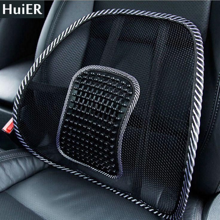 New Hot Car Seat Cover Lumbar Back Brace Seat Cushion Office Home Auto Massage Waist Seat Cushion Car-covers Free Shipping