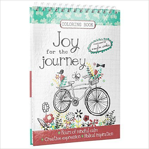 amazoncom joy for the journey hardcover inspirational adult coloring book - Coloring Book Publishers