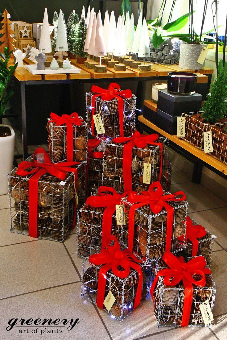 Gabion gifts! #greenery #gabion #christmas #gifts #greece