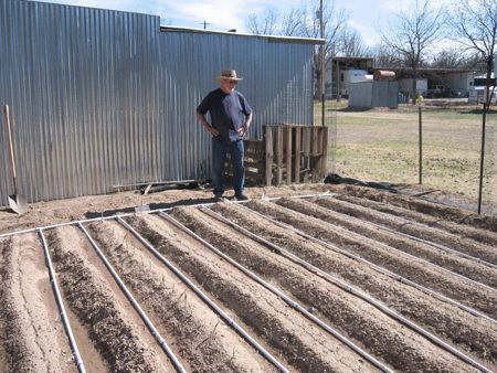 PVC drip irrigation: This is DIY and AMAZING! I wish I could do this? PVC pipe won't rot in the sun like soaker hoses.The man on this site give very specific, thorough directions.