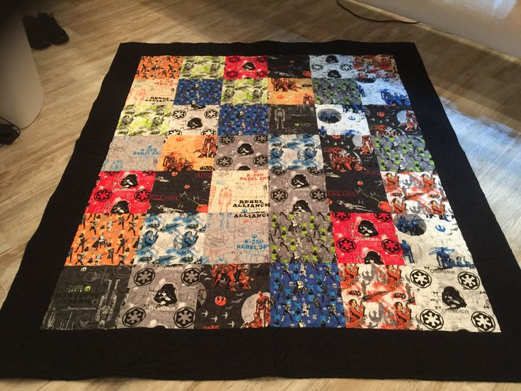 Full size quilt Star Warrs Rogue by Cameot by AntiqueThreadsbyDonn on Etsy
