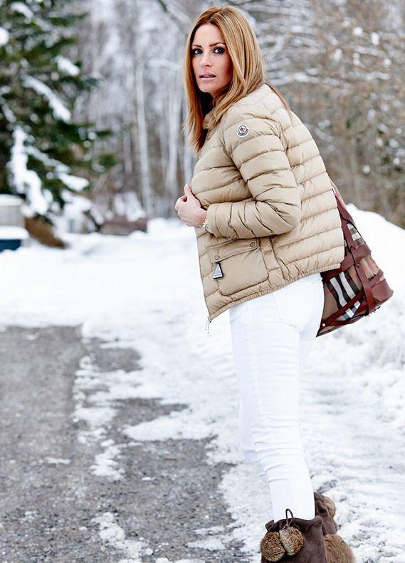 Image result for beige puffer jacket