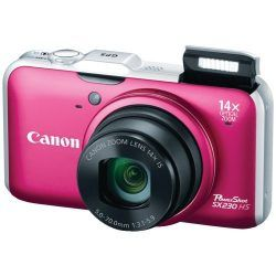 Canon PowerShot SX230HS 12.1 MP Digital Camera with HS SYSTEM and DIGIC 4 Image Processor (red)