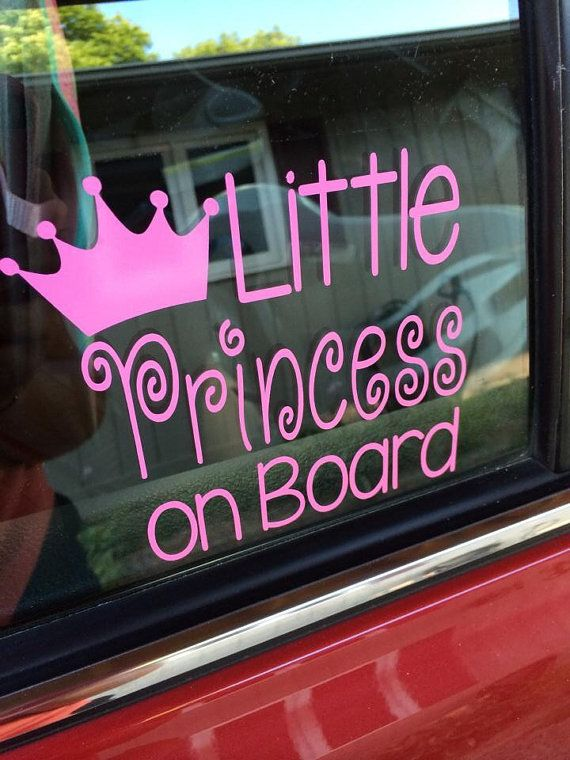 Little Princess on Board Baby Girl Car Decal by PrettyLittleVinyls
