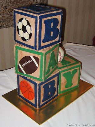 Baby boy shower cake - This matches my nursery theme perfectly!