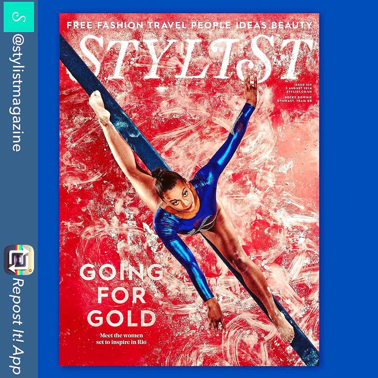 Amazingly #creative front cover of @stylistmagazine featuring Team GB hopeful gymnast Beckie Downie, ahead of the Rio 2016 Olympics launching this weekend.   #Design #Sport #Olympics #Gymnastics #Rio2016 #TeamGB #Women #Empower #Confidence #ByYourSide