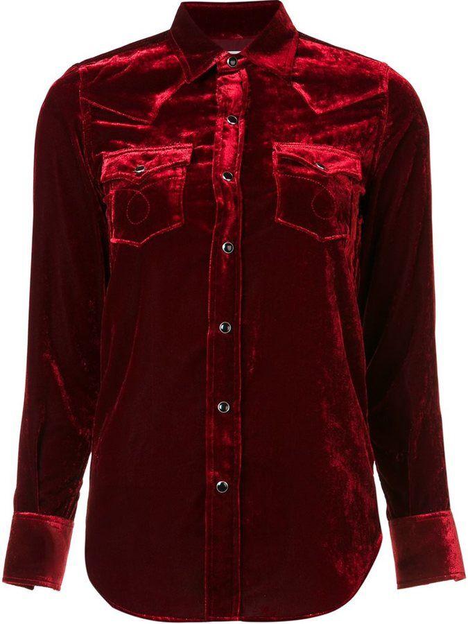 Saint Laurent velvet western shirt