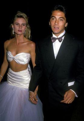 Scott Baio & Nicolette Sheridan, 1988 (OMG THAT DRESS!!!)