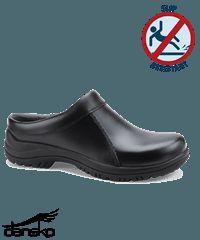 Dansko Men's Black Smooth Leather Wil Clog