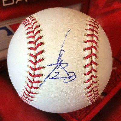 SIGNED Autographed Hiroyuki Nakajima MLB Baseball A's Seibu Lions Orix Buffaloes