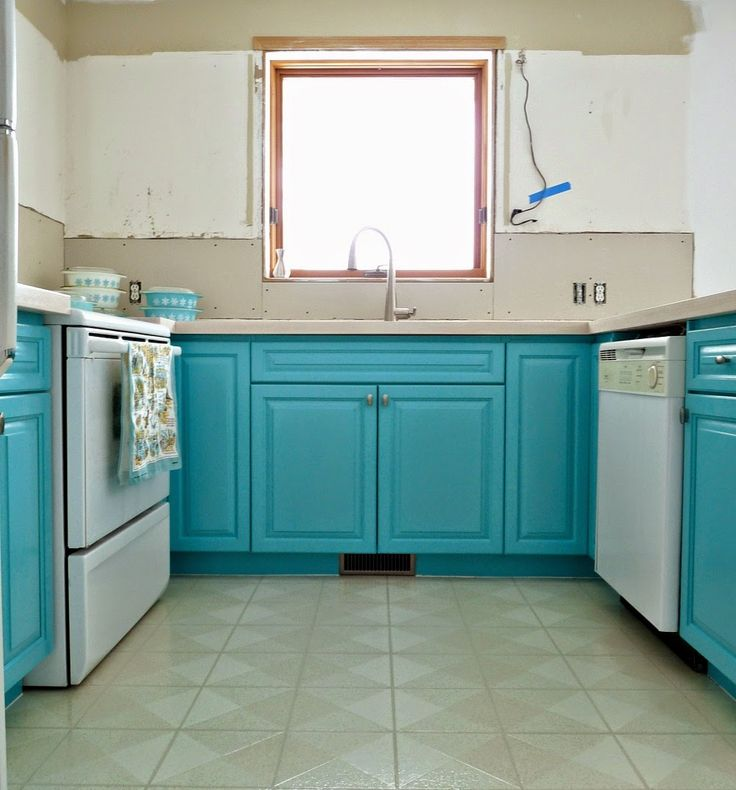 Teal Kitchen Oak Cabinets: Best 25+ Turquoise Cabinets Ideas On Pinterest