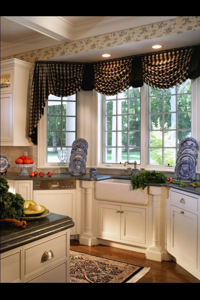 14 Best Window Treatments Images On Pinterest  Curtains Antique Amazing Swag Curtains For Kitchen Decorating Inspiration