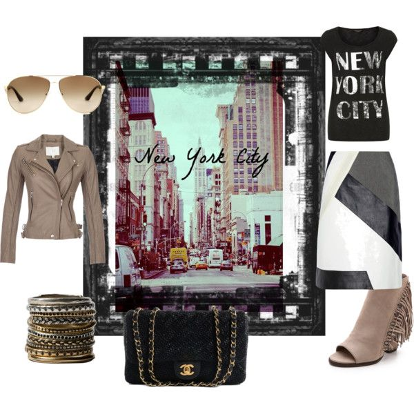 """""""I'm in New York"""" by nikita-17 on Polyvore"""