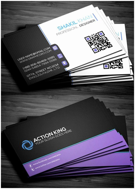 Free Downloadable Business Card Template Unique Professional Business Card Design In 2020 Free Business Card Design Sample Business Cards Free Business Card Templates