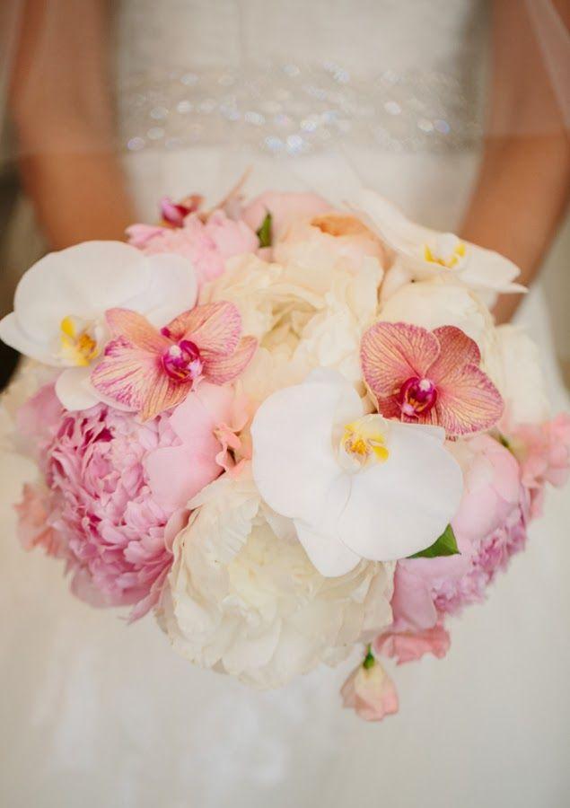 Trendy Wedding ♡ blog mariage • french wedding blog: Un bouquet à la fois doux et exotique
