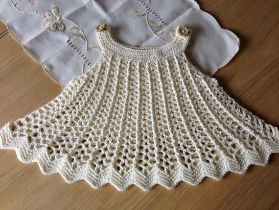 Crochet Designs Free: Friends look only dress baby cute crochet. I loved it and you. Share. Kisses and a great week.