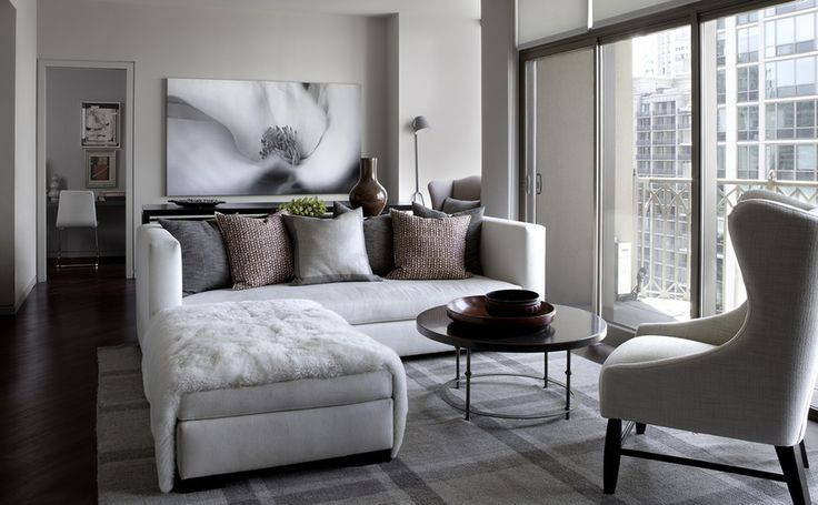 City condo living room.  Interior design by Michael Del Piero Good Design