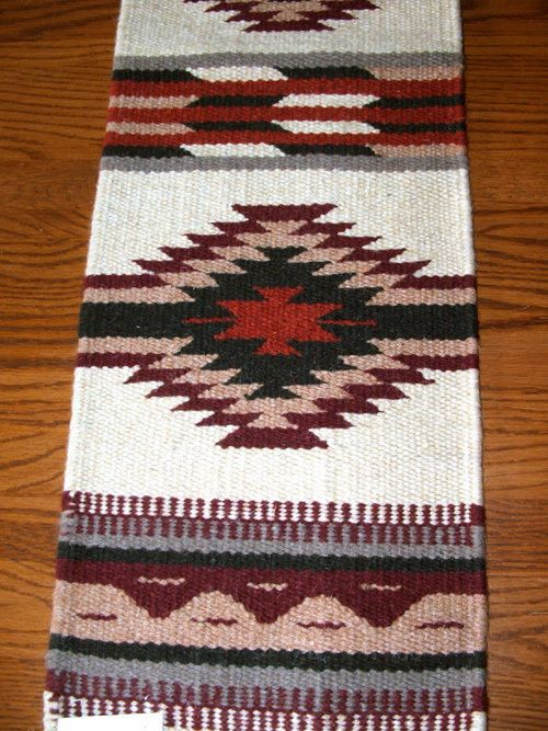 table runner handwoven wool 10x80 southwestern native american design 33 southwest home decornative - American Home Decor Stores