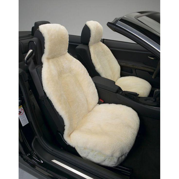 Cream Sideless Sheepskin Seat Cover