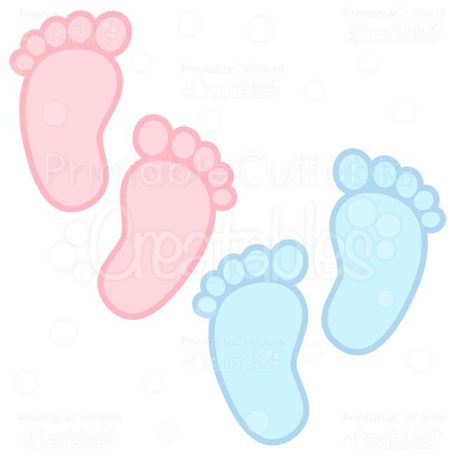 Baby Footprints Free SVG Cuts Clipart