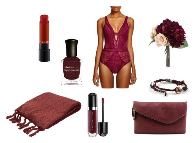 marsalas wanties by lucy-mayday on Polyvore featuring moda, BECCA by Rebecca Virtue, Urban Expressions, MAC Cosmetics, Deborah Lippmann and Jaipur