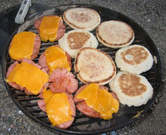 taylor pork roll sandwiches grilled