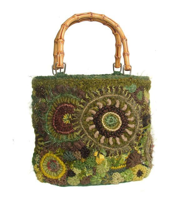 Freeform Crochet Medium size Women's Handbag Purse in