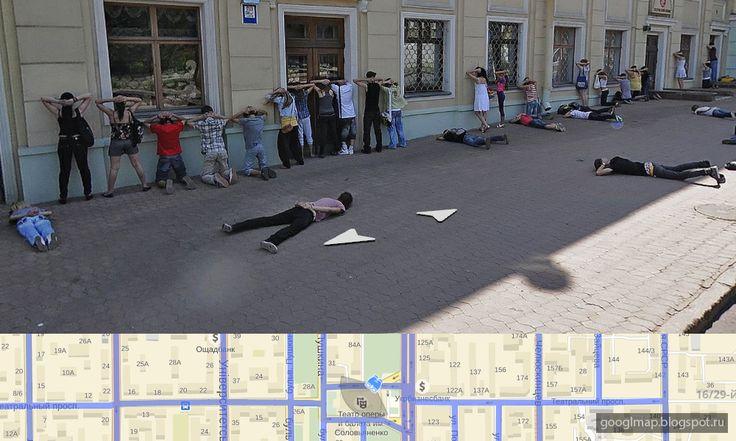 Мрачная панорама из Донецка. Заложники. #streetviev #googlemaps #googleview #yandexview