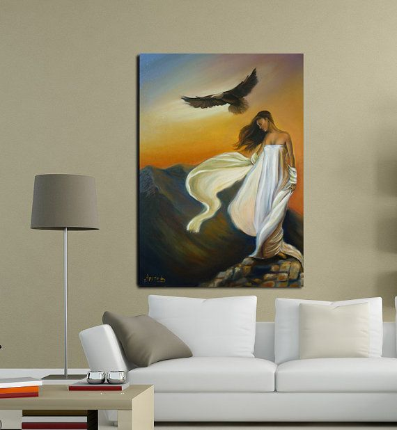 Oil paintingon stretched canvas.Free shipping by artstudioAreti